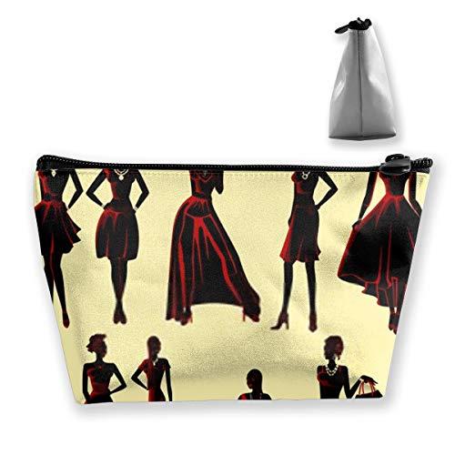 Beau sac de rangement pour pinceaux de maquillage Motif femme africaine Noir