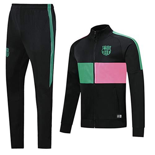 LTTL Chándal de fútbol BǎRCělona 2021 Jersey de fútbol Cuello Alto Manguito de Manga Larga Equipo Profesional Uniforme y Pantalones Conjunto de Ropa Deportiva, Mejor rega L