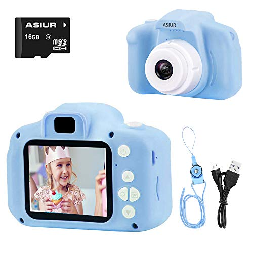 ASIUR Digital Camera for Kids, 1080P FHD Kids Digital Video Camera Child Camera with 16GB SD Card for 3-10 Years Boys Girls Gift