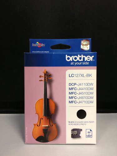 2 Original XL Druckerpatronen LC-127XL black DOPPELPACK für Brother MFC-J4410DW MFC-J4510DW MFC-J4610DW MFC-J4710DW Tintenpatronen inkl. 10 Blatt Fotopapier 10x15cm (240g/m²)