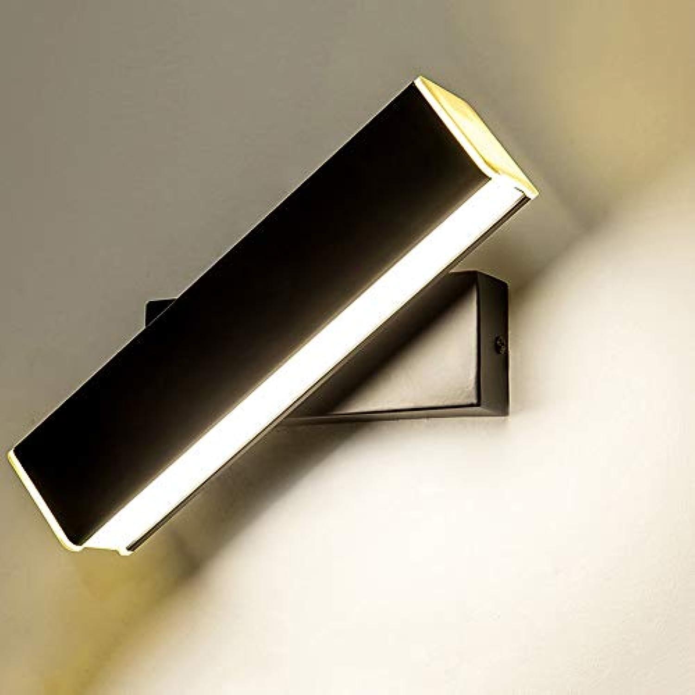 ZSAIMD LED Aluminium Wandleuchte Moderne Wandleuchte für Innenbereich Nachtlicht Einfache moderne kreative Gang Wohnzimmer Lampe Nordic Hotel Rotierenden Dimmen Lesen Wandlampe Schlafzimmer