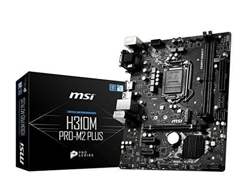 MSI H310M PRO-M2 PLUS Intel Sockel 1151 DDR4 m.2 USB 3.2 Gen 1 HDMI M-ATX Gaming Motherboard