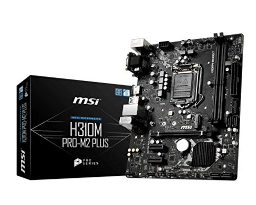 MSI H310M PRO-M2 PLUS Intel Sockel 1151 DDR4 m.2 USB 3.2 Gen 1 HDMI M-ATX Gaming Motherboard