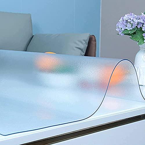 LASHI 2mm Escarchado Transparente Manteles Impermeable PVC Mesa Protector Limpiable Suave Claro Mesa Cubrir Tela (Color : 2mm, Tamaño : 60x120cm/23.6x47.2in)