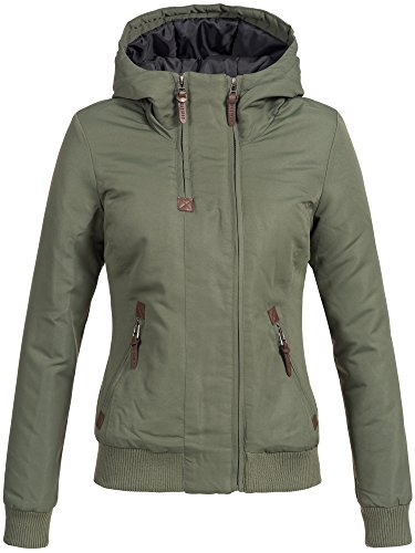DESIRES Damen Elva Winterjacke mit gefütterter Kapuze Jacke 5 Farben XS-XL 3785 Climb IVY XS