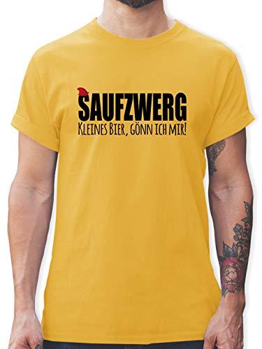 Karneval & Fasching - Saufzwerg - schwarz - M - Gelb - Karneval - L190 - Tshirt Herren und Männer T-Shirts