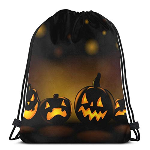 Halloween Drawstring Backpack Bag Sport Gym Sackpack 14.2 x 16.9 Inch