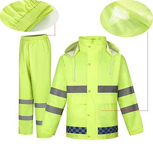 LYGID Regenanzug für Herren Damen Regenkleidung Jacke Hosen Wasserdicht Set Erwachsene mit Kapuze Outdoor Arbeit Motorrad Golf Angeln,A,M