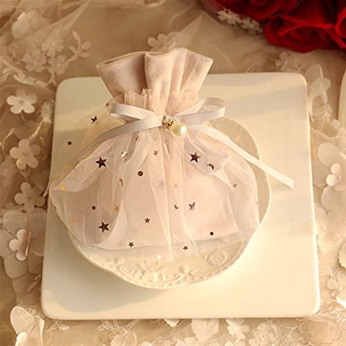 ギフトボックス 30個パーソナリティ結婚式の菓子箱ピンクのベルベットの布のギフトバッグの包装箱ベビーシャワーバッグチョコレートイベントパーティー用品 (Farbe : Mint Grün, Geschenk Tasche Größe : L 12x18cm)