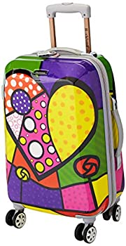 Rockland Vision Hardside Spinner Wheel Luggage Heart Carry-On 20-Inch