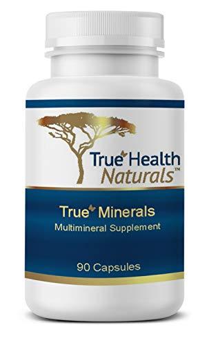 True Health Naturals - True Minerals Supplement, Promotes Gut & Heart Health, 90 Vegetarian Capsules