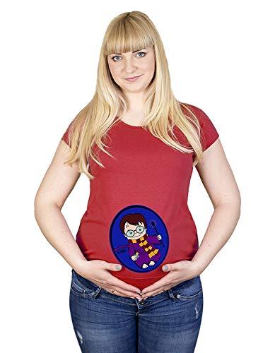 Cache A Boo Harry Sorcier Potter Coton Maternité Haut Hypoallergénique (XL, Rouge)