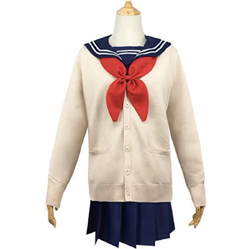 GODNECE Cosplay Schuluniform, My Hero Academia Himiko Toga Cosplay Uniform - M