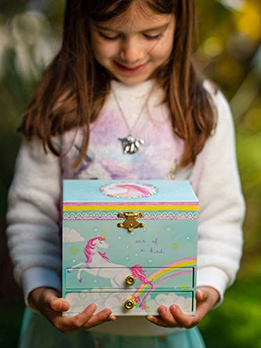 Jewelkeeper Unicorn and Rainbow Musical Jewelry Box with 2 Pullout Drawers, The Unicorn Tune 10