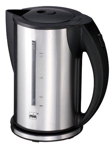 Mia EW 3672 Design-Wasserkocher Edelstahlummantelt, silber