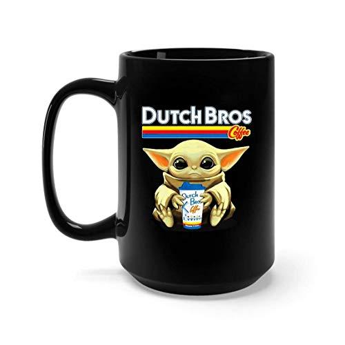 Baby Yoda Hug Dutch Bros Coffee Mug 11oz, 15oz