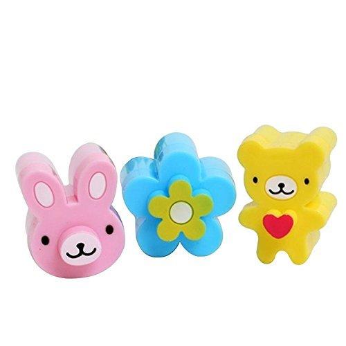 Upspirit 3CPS Cute Mini Sandwich Cutters Shapes Set for Kids Plastic Bento Sandwich Cutters Molds by Upspirit