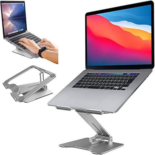 Laptop Ständer,Notebook Ständer: Multi-Angle-Standfuß mit Stabiler Tippmodus, Heat-Vent, Aluminium Einstellbares Notebook Stände kompatibel für Laptop (8-15 Zoll), einschließlich MacBook Pro/Air