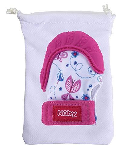 Nûby - Gant de Dentition Happy Hands - 3M+ Rose
