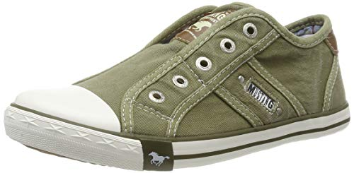 MUSTANG Damen 1099-401-777 Slip On Sneaker, Grün (Khaki 777), 41 EU