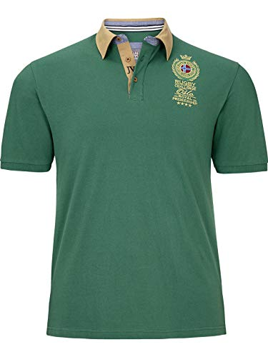 Jan Vanderstorm Herren Kurzarm Poloshirt Joakim (Polo-Shirt, Polohemd) grün 3XL (XXXL) - 64/66