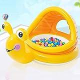 Leilims Corrales for el niño Infantil Jugar Juego Durable Fuerte for niños Zona de Corral for Jugar Juguetes Océano Ball Pool Set for bebés/recién Nacido/Segura (Color : Yellow Snail)