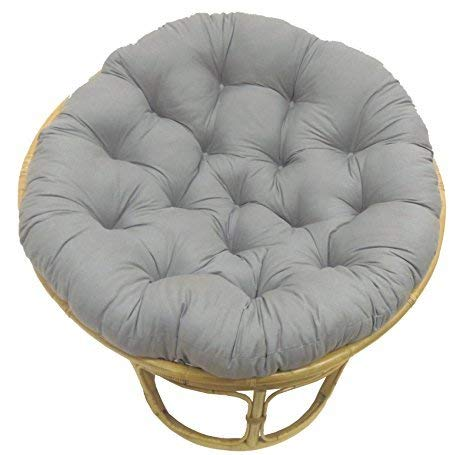 COTTON CRAFT Papasan Charcoal - Overstuffed Chair Cushion,...