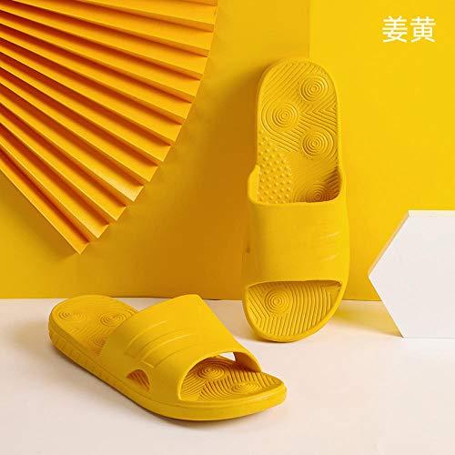 LNLJ Sandalias y zapatillas de interior, zapatos de tela bordados de lino transpirable, zapatos de tendón cuñas-crema-blanco_36