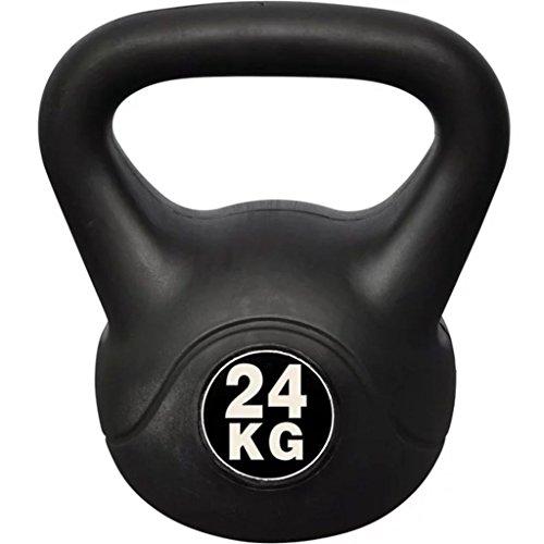 yorten Fitness Kettlebell Tranining Kugelhantel 24 kg 24 x 30 x 34 cm mit Kunststoffummantelung