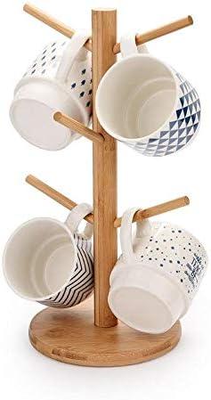 NNDQ Mug Holder for 6 High material Mugs Organic Max 88% OFF Collapsib Bamboo