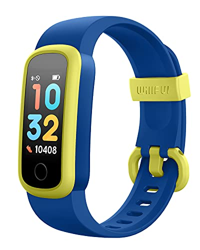 Willful Orologio Fitness Smartwatch Contapassi per Bambini Ragazzo dai 6 Anni in su Cardiofrequenzimetro Impermeabile IP68 Sveglia Cronometro Sonno Calorie km (può essere utilizzato senza cellulare)