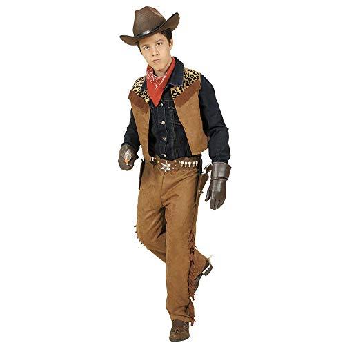 Widmann 42776 Kinderkostüm Cowboy/Indianer, Jungen, Braun, 128 cm