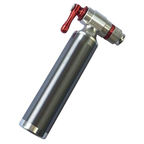 KKmoon Bomba de CO2 Bicicleta para Presta & Schrader Bombas de Alta Presión para Bicicletas de Carretera y Montaña