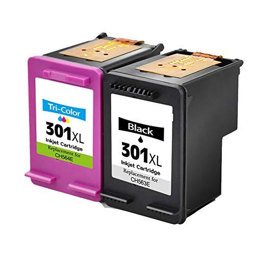 GYBN Cartuccia di Inchiostro Ricaricabile con Grande capacità, per HP 301 Cartuccia di Colore Nero, per HP 1000 Cartuccia di Inchiostro, per Stampante HP 2000 1050 2050