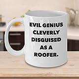 Divertida Taza de café para techadores, Regalos Personalizados Personalizados para los Fabricantes de techos, Carpintero, Carpintero, Trabajador, Genio Malvado, Humor inteligentemente Disfrazado