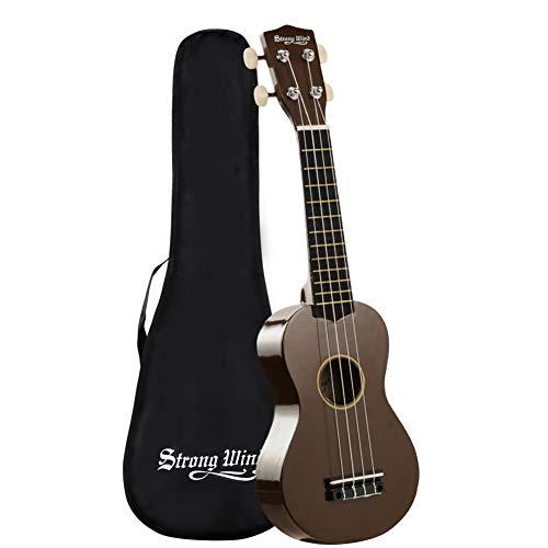 Strong Wind Ukulélé Soprano 21 pouces, 4 Cordes Instrument de Ukulélé Hawaïen avec Sac, pour...