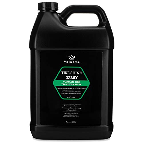 TriNova Tire Shine Gallon Size - Leaves Brilliant Wet Looking Shine, Perfect for Detailer. Best...