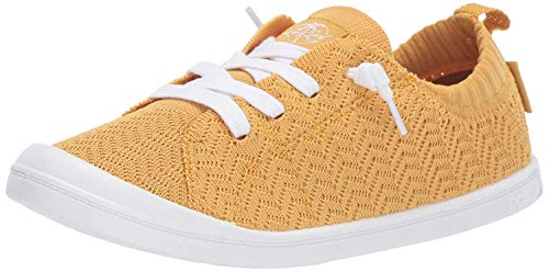 Roxy Damen Bayshore Knit Slip On Sneaker Shoe Turnschuh, Yellow Tone, 35 EU