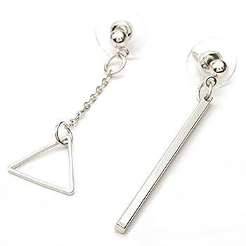 LUFA Asymétrique Longue Boucles d'oreilles Géométrique Triangle/Round Dangle Boucles d'oreilles pour Femmes
