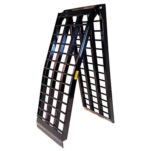 Baiyin Rampa De Aluminio Plegable, Fuerte Robusto Tarea Pesada Capacidad De Carga hasta 680 Kg Motos Remolque Fácil Cuesta Arriba Pendiente Auxiliar para Camión (Color : Black, Size : 300X46CM)