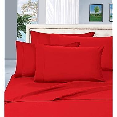 Thread Spread True Luxury 100% Egyptian Cotton - Genuine 1000 Thread Count 4 Piece Sheet Sets - Fits Mattress Upto 18'' Deep Pocket (Queen, Red)