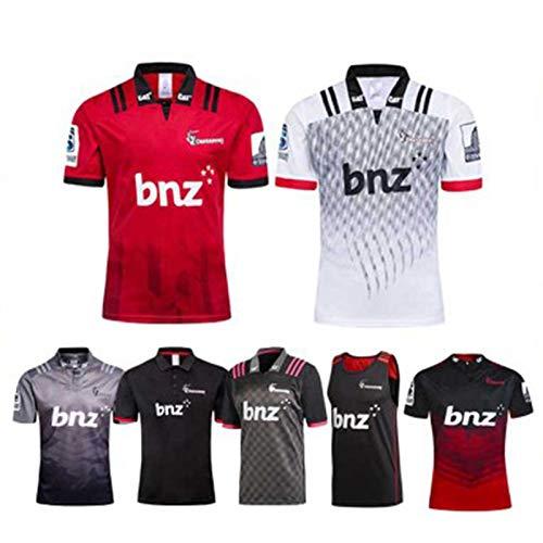 Rugby Jersey, 2020 Nueva Zelanda Crusaders Camiseta De Rugby, Copa Mundial De Rugby Fans T-Shirt, Manga Corta De Fútbol De Entrenamiento Polo (S-3XL) Vest-L