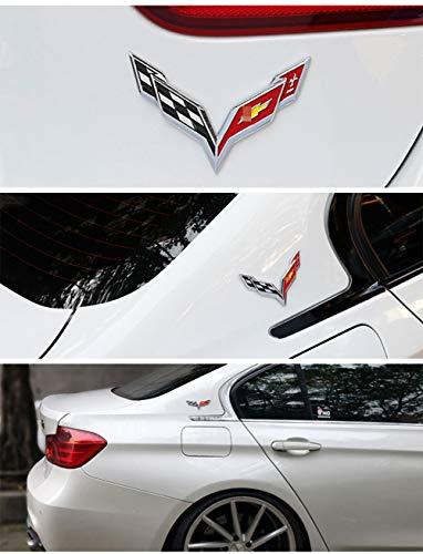 wangjianbin FüR Corvette 60 Jahre Emblem Aufkleber FüR Chevrolet Chevy Corvette Camaro Aveo Cruze Malibu Captiva Trax Niva ZubehöR Abzeichen