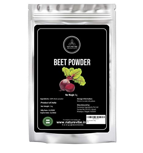 Beet Powder (1Kg) by Naturevibe Botanicals | Nitric Oxide Booster | Perfect for Smoothies & Shakes | Add it to Breakfast Bowl or Sprinkle on Salads
