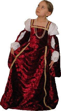 Pouce et Compagnie - PC0147 - Robe Renaissance - 4-6 ans - Rouge