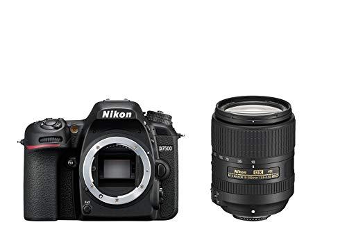 Nikon D7500 + AF-S DX NIKKOR 18-300 VR Juego de cámara SLR 20,9 MP CMOS 5568 x 3712 Pixeles Negro - Cámara Digital (20,9 MP, 5568 x 3712 Pixeles, CMOS, 4K Ultra HD, Pantalla táctil, Negro)