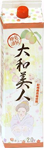 【紀州南高梅100%】完熟梅酒 大和美人 2L(2000ml)パック