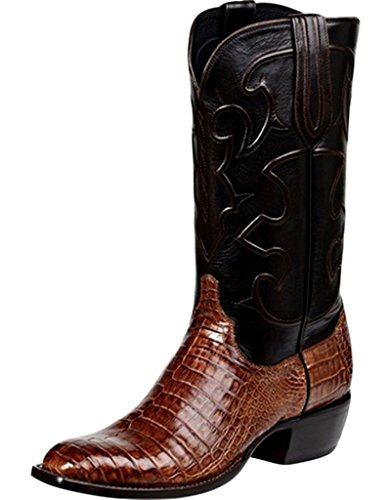 Lucchese Since 1883 Men's Charles Boot,Sienna Crocodile Belly,US 10.5 D