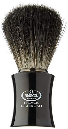 """Omega 0196818 - Pennello da Barba in Fibra""""Black Hi-Brush"""", Nero"""