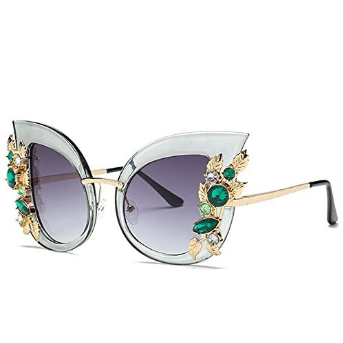 ZHANGMINGXI Gafas De Sol Para Damas, Gafas De Sol Con Protección Uv, Excursionistas Casuales Marco gris doble pieza gris